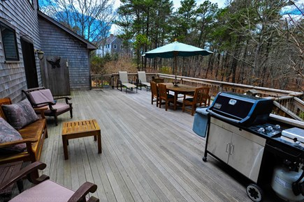 Oak Bluffs - Meadow View Farms Martha's Vineyard vacation rental - Spacious deck for relaxing and entertaining.