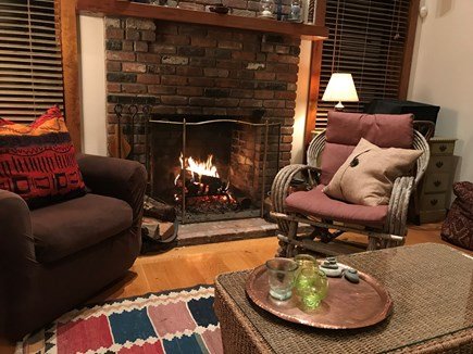 Oak Bluffs - Meadow View Farms Martha's Vineyard vacation rental - Cozy comfort by the fireplace in all seasons.