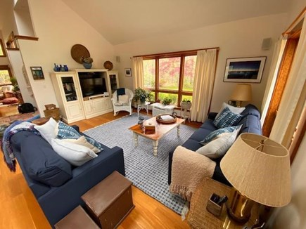 Oak Bluffs - Meadow View Farms Martha's Vineyard vacation rental - TV and media room.