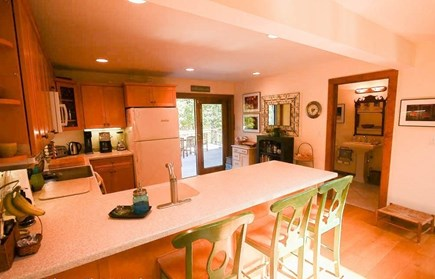 Oak Bluffs - Meadow View Farms Martha's Vineyard vacation rental - Spacious kitchen with access to half bath, laundry room and deck.