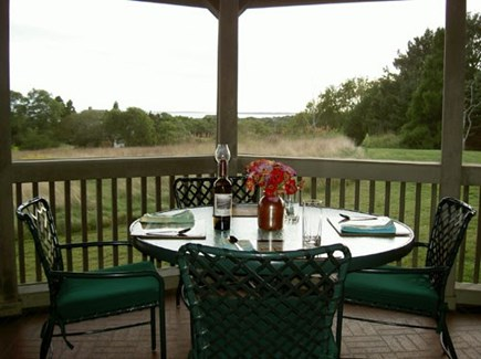 Chilmark Martha's Vineyard vacation rental - Oceanview screened porch with breakfast nook