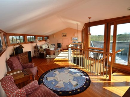 Chilmark Martha's Vineyard vacation rental - Sunny, quiet 2nd level living area over looks the hills and ocean