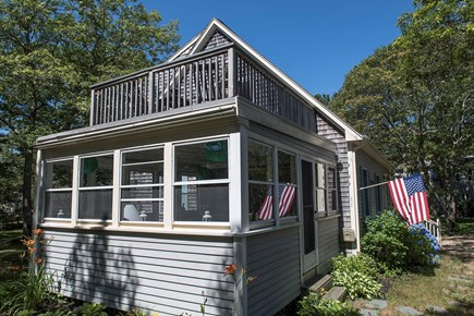 Oak Bluffs Martha's Vineyard vacation rental - Top sunning deck and enclosed sun porch