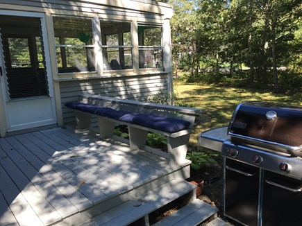Oak Bluffs Martha's Vineyard vacation rental - Back grilling deck