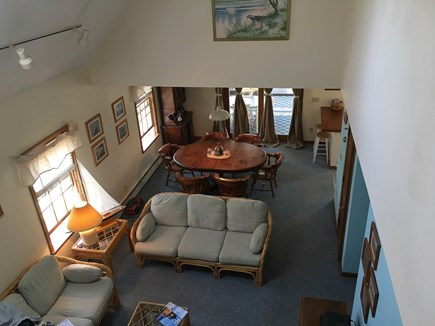 Oak Bluffs Martha's Vineyard vacation rental - Living room view from upstairs overlook