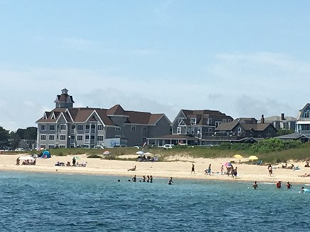 Oak Bluffs Martha's Vineyard vacation rental - A view of the condominium from Nantucket Sound.
