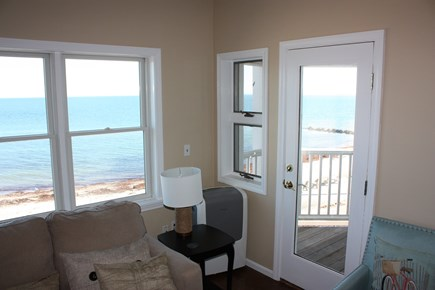 Oak Bluffs Martha's Vineyard vacation rental - Windows and balcony with views of Nantucket Sound.