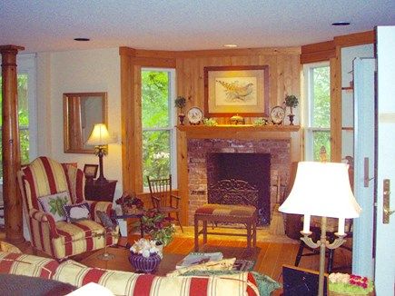 West Tisbury Martha's Vineyard vacation rental - Living Room with a fireplace