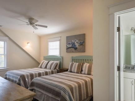Vineyard Haven Martha's Vineyard vacation rental - 2nd Floor- Bedroom #3 with two Full Beds And en-suite full bath