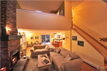 Edgartown Martha's Vineyard vacation rental - Living /dining room. Hot tub through sliding doors