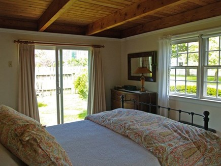 Edgartown Village Martha's Vineyard vacation rental - The downstairs queen size bed with plenty of light