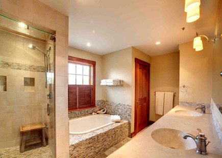 West Tisbury Martha's Vineyard vacation rental - Tiled master bath with steam shower & private access to hot tub.