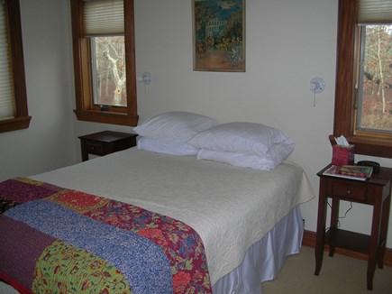 West Tisbury Martha's Vineyard vacation rental - 1st floor guest BR- Queen bed, en suite bath room.
