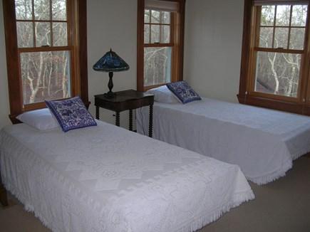 West Tisbury Martha's Vineyard vacation rental - 2nd floor guest BR - 2 twin beds, en suite full bathroom.