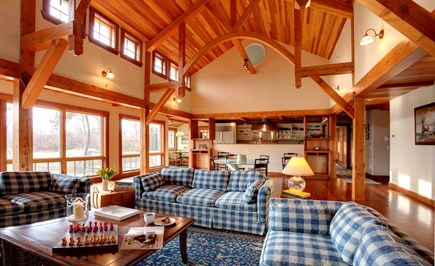 West Tisbury Martha's Vineyard vacation rental - Great room with fireplace, sound system, and flat screen tv.