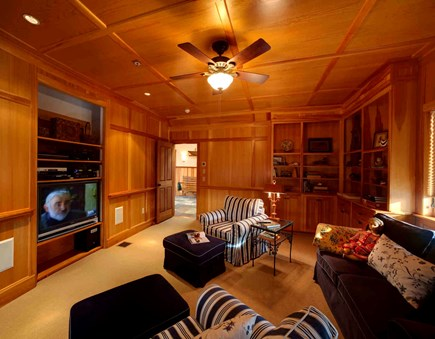 West Tisbury Martha's Vineyard vacation rental - Media room - flat screen tv, DVD player.