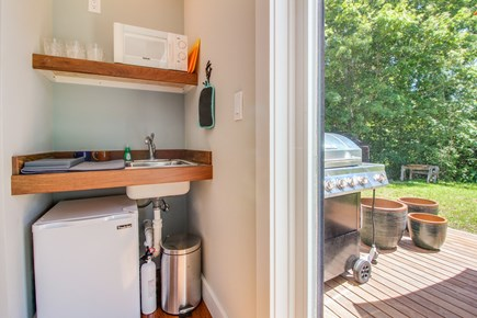 Vineyard Haven Martha's Vineyard vacation rental - The kitchenette is just steps away from the pristine grill