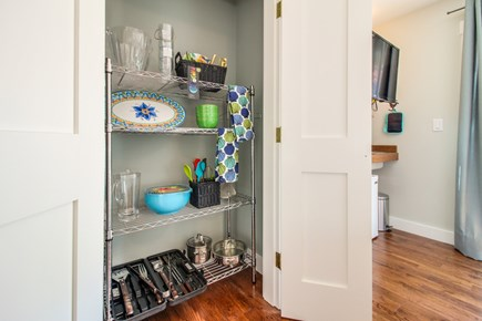 Vineyard Haven Martha's Vineyard vacation rental - You'll find grill utensils and pots & pans in the storage closet