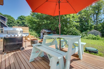 Vineyard Haven Martha's Vineyard vacation rental - Grill up some shrimp on the shared deck.