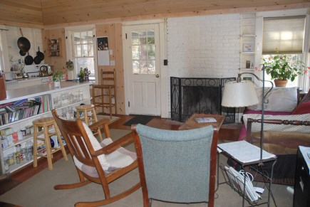 Oak Bluffs Martha's Vineyard vacation rental - Kitchen Opens to the living room and fireplace