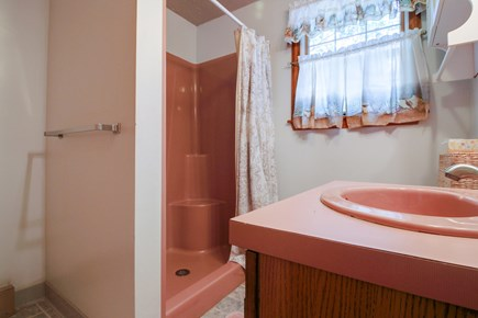 Edgartown Martha's Vineyard vacation rental - A cute bathroom with a standalone shower is around the corner