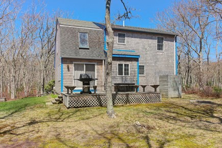 Edgartown Martha's Vineyard vacation rental - Back of house with grill