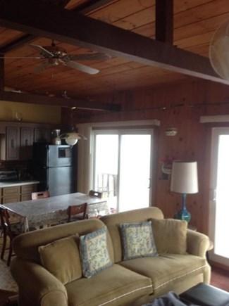 Vineyard Haven Martha's Vineyard vacation rental - Upper level living room - kitchen - Dining Area