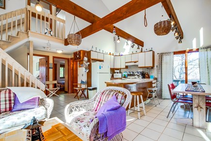 Edgartown Martha's Vineyard vacation rental - Vaulted ceilings & cozy wicker furniture make you feel at home