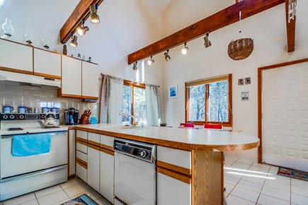 Edgartown Martha's Vineyard vacation rental - Beyond the living room is a well-equipped kitchen