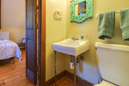 Edgartown Martha's Vineyard vacation rental - Private half bathroom is connected to the master bedroom