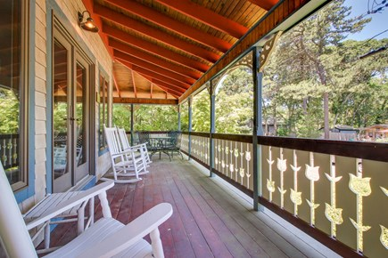 Oak Bluffs Martha's Vineyard vacation rental - This wrap around porch is the perfect added touch to this home.