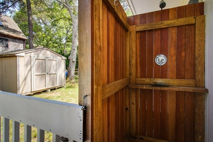 Oak Bluffs Martha's Vineyard vacation rental - Rinse off from a day at the beach in this outdoor shower.