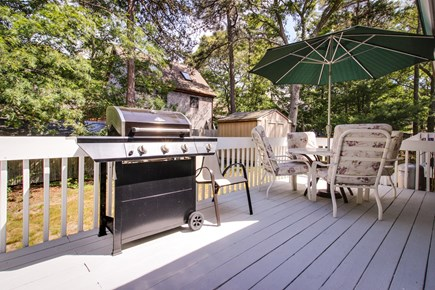 Oak Bluffs Martha's Vineyard vacation rental - End the day grilling on the back deck.