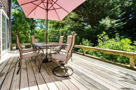 Edgartown Martha's Vineyard vacation rental - Relax and enjoy the weather on the back deck