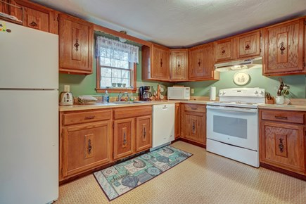 Edgartown Martha's Vineyard vacation rental - The living room opens up into the kitchen with all the essentials
