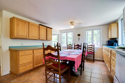 Oak Bluffs Martha's Vineyard vacation rental - Eat-in kitchen is homey with wood cabinets