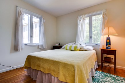 Oak Bluffs Martha's Vineyard vacation rental - A cozy queen bed with hardwood floors and antique furniture