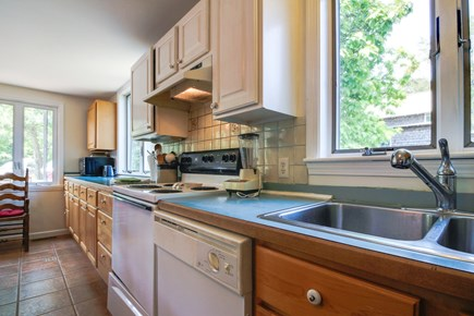Oak Bluffs Martha's Vineyard vacation rental - An electric range, dishwasher, and fridge are some amenities here