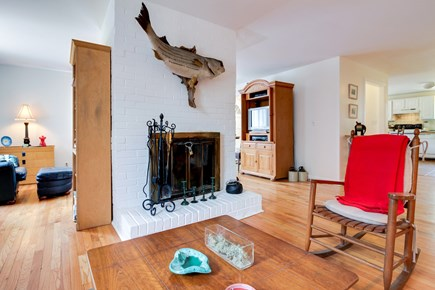 Oak Bluffs Martha's Vineyard vacation rental - Separated by a large, two-sided decorative wood fireplace