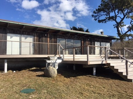 Chilmark, Menemsha Martha's Vineyard vacation rental - Front with large deck for taking in the view.