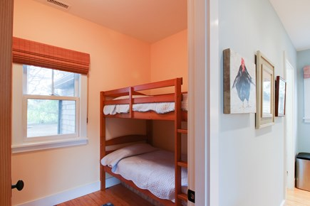 West Tisbury Martha's Vineyard vacation rental - Main level bedroom with twin bunkbeds