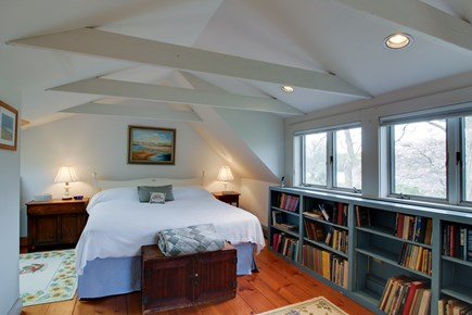 West Tisbury Martha's Vineyard vacation rental - The beautiful master bedroom is upstairs with a king bed