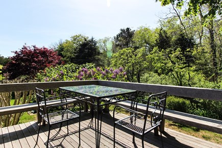 West Tisbury Martha's Vineyard vacation rental - Sit outside on the wooden deck and take in the scenery