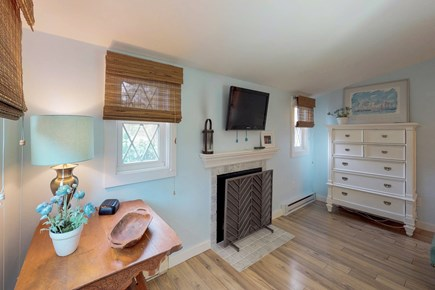 Oak Bluffs Martha's Vineyard vacation rental - The queen bedroom is complete with a TV and fireplace