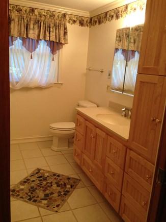 Edgartown, Ocean Heights Martha's Vineyard vacation rental - 2nd floor bathroom with heated floors & make up table
