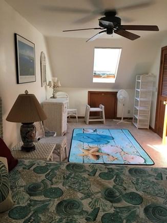 Edgartown, Ocean Heights Martha's Vineyard vacation rental - Second floor bedroom with walk-in closet & ceiling fan
