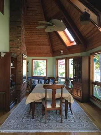 Edgartown, Ocean Heights Martha's Vineyard vacation rental - Sunny dining area seating for 6, walk out to back deck
