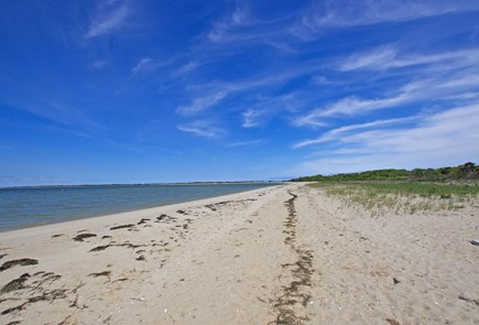 Chappaquiddick, Edgartown Martha's Vineyard vacation rental - Sandy beach and shallow water