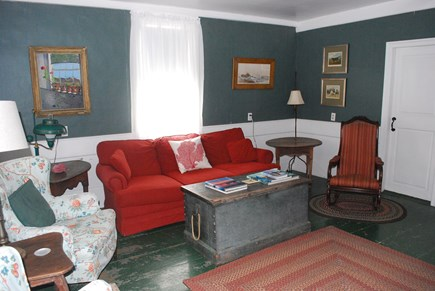 Chappaquiddick, Edgartown Martha's Vineyard vacation rental - Living Room with fireplace