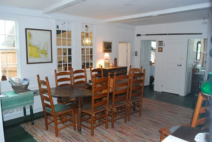 Chappaquiddick, Edgartown Martha's Vineyard vacation rental - Large Dining room with fireplace